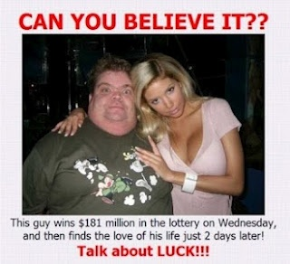 Winning the lottery  WOW YOU HEAR ABOUT IT THEN YA SEE IT....