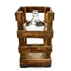 Vintage Crated Carboy (491563248), Eco Friendly Home Decor Accents | Decorative Home Accents | Contemporary Home Accents