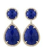 Majolie Diamond and Lapis Lazuli Teardrop Earrings $1320