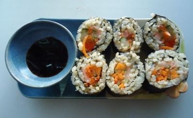 brown rice sushi rolls she shares this recipe in the food blog # sushi ...