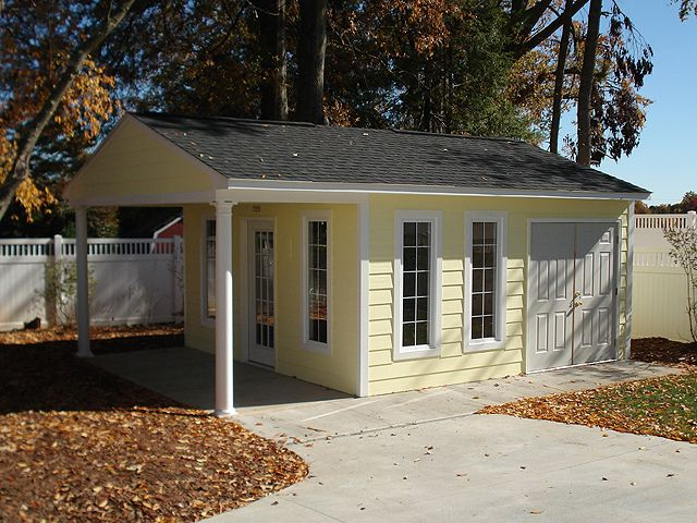 Home office premier pro garage 16x24 by tuff shed for 16x24 house