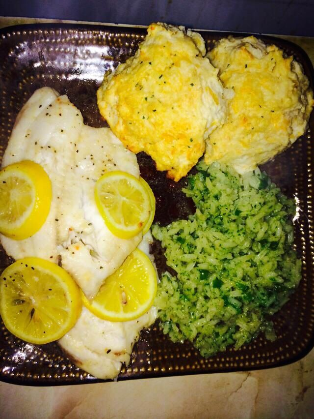 ... cheddar bay biscuits (box at walmart) cilantro rice very yummy dish