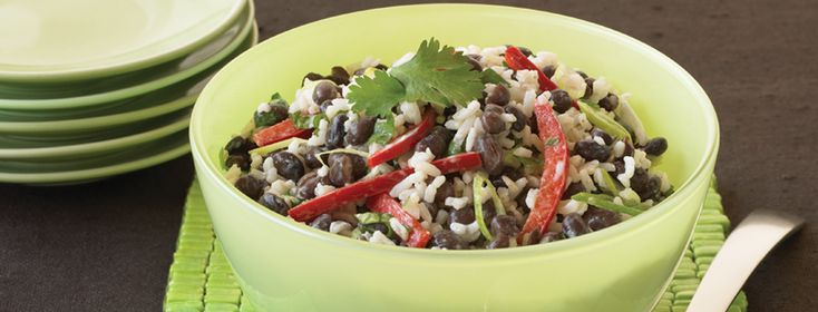 Black Bean and Rice Salad - Serve hot or chilled for an easy-to-prep ...