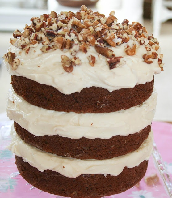 Banana Nut Coconut Cake with Cream Cheese Frosting