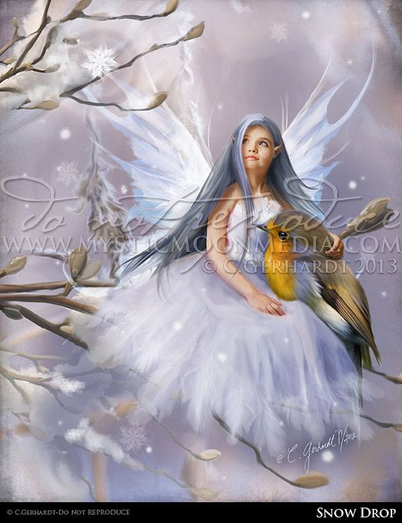 May Sale 35 Off Snow Drop Child Fairy Picture Art