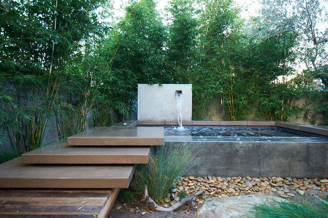 Zen backyard another view small pool designs pinterest for Zen pool design