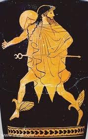 05 - Hermes, durante toda su vida ofrece provechosa ayuda, esta muy cerca de su padre Zeus, quien lo elige como a uno de sus hijos predilectos. La misión de Hermes como el interlocutor oficial entre los dioses y los hombres, la realiza perfectamente.
