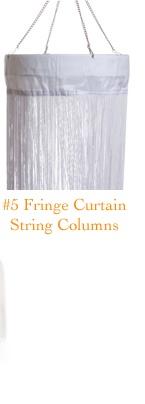 Fringe Curtain String Columns