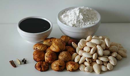 Chestnut almond cookies: Molasses, All purpose flour, Almonds, Roasted ...
