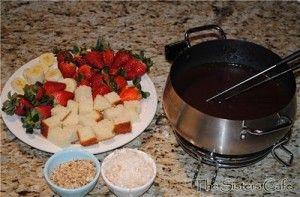 Chocolate Coconut Almond Fondue | FUN TOO -FONDUE !!! | Pinterest