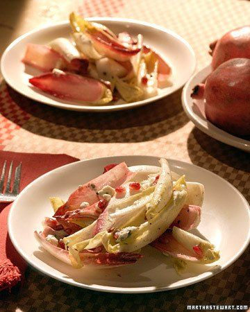 Endive, Blue Cheese, and Pomegranate Salad | Recipe