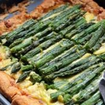 Asparagus Tart with Fontina & Gruyere Cheese