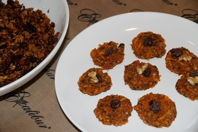 Grounded Nutrition ~ Recipe for Raw Butternut Squash Carrot Cookies.