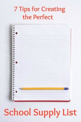 Tips for creating the perfect school supply list weareteachers com