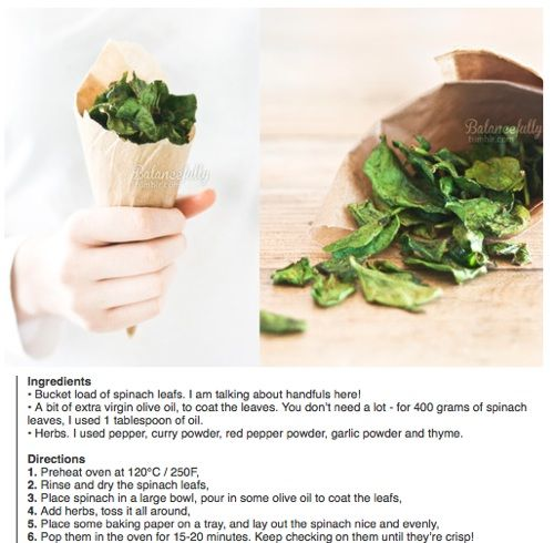 Spinach With Garlic Chips Recipe — Dishmaps