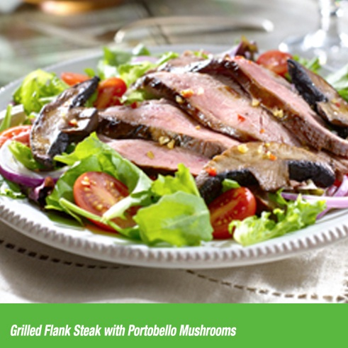 Grilled Flank Steak with Portobello Mushrooms. And that's how you ...