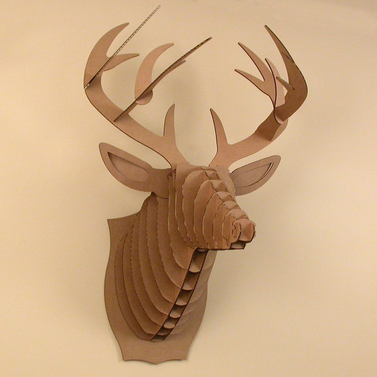Cardboard cutout stag horns and antlers pinterest - Cardboard stag head ...