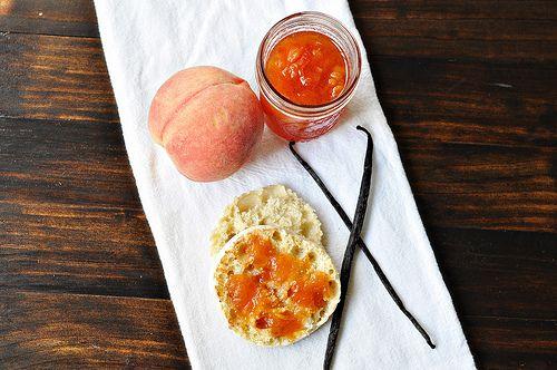 peach vanilla bean jam - http://www.cooklikeachampionblog.com/2011/08 ...