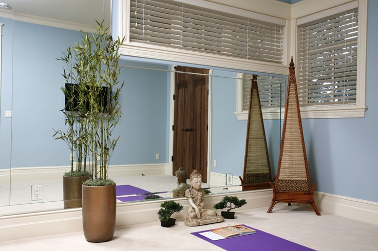 At home yoga room meditation room pinterest for Home yoga room design
