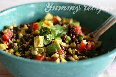 Black Bean and Corn Salad | Tacos, taquitos, burritos.... | Pinterest