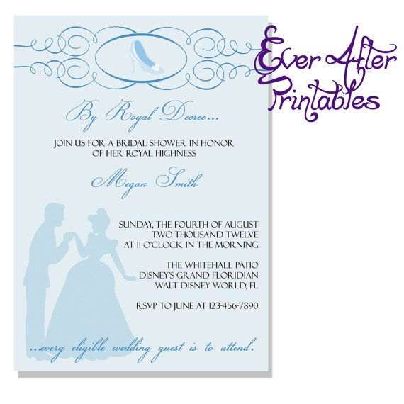 Cinderella Bridal Shower Invitation