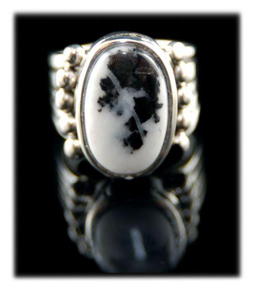 a white buffalo turquoise ring jewelry box