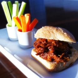 Zesty Slow Cooker Chicken Barbecue Sliders Allrecipes.com