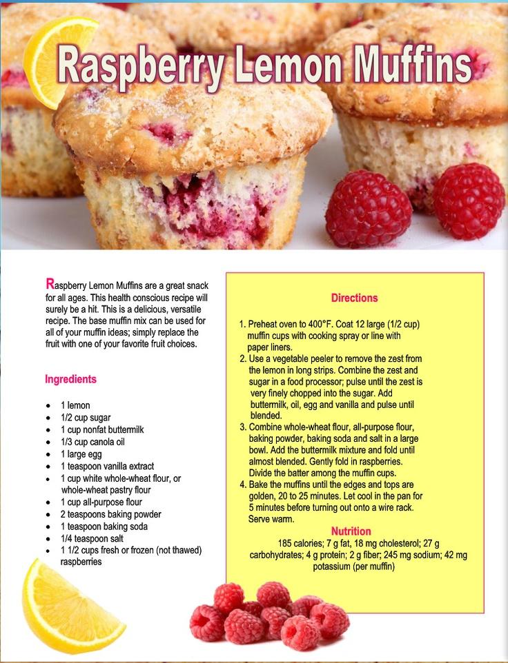 Raspberry Lemon Muffins | Baking: Cupcakes & Muffins | Pinterest