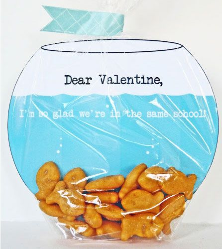 Click Pic for 30 Valentines Day Kids Crafts - Goldfish Bowl Valentine - DIY Valentines Crafts
