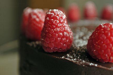 Chocolate Cake with Raspberry Mascarpone Filling and Chocolate Ganache ...