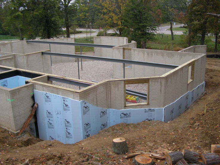 Poured Concrete Walls Without Forms For The Home Pinterest