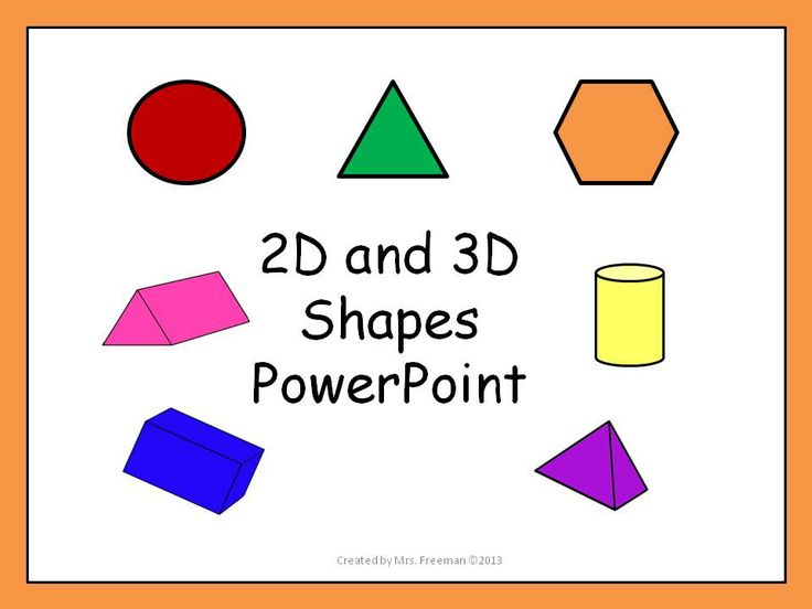 2d Amp 3d Shapes Powerpoint