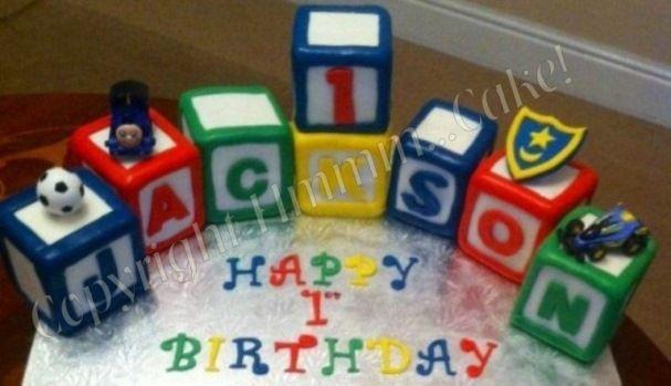 building blocks cakes | building blocks | TREY'S BIRTHDAY PARTY IDEAS ...