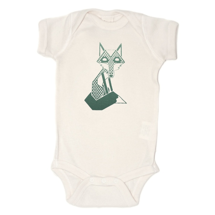 Organic Fox esie Gender Neutral Baby Clothing