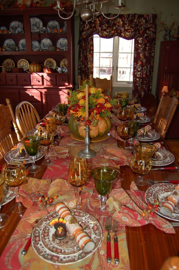 Thanksgiving tablescape fall decor pinterest for Tablescape decor