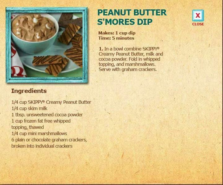 mores Peanut Butter Dip | Food and drinks | Pinterest