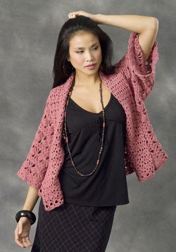 Xian Kimono Jacket crochet Pinterest