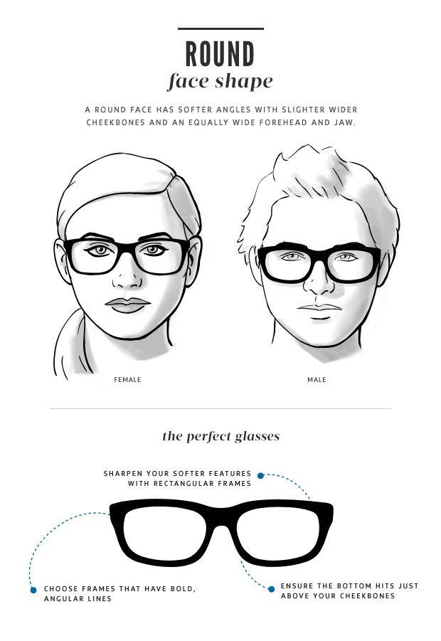 Right Eyeglass Frame For Your Face : Face Shape Guide for Glasses