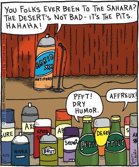 Dry british humor