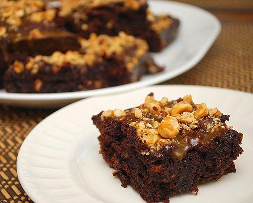 Hazelnut Caramel Brownies   Brownies & fudge   Pinterest