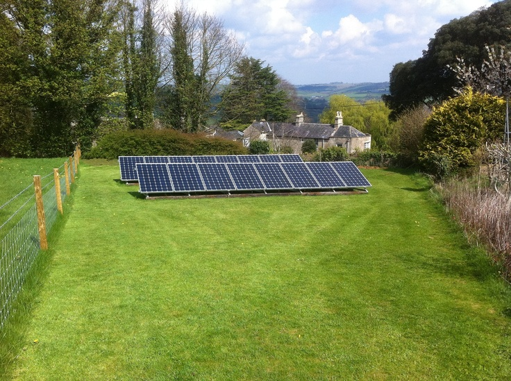 Solar PV Ground Mount System | Our Domestic Installations | Pinterest