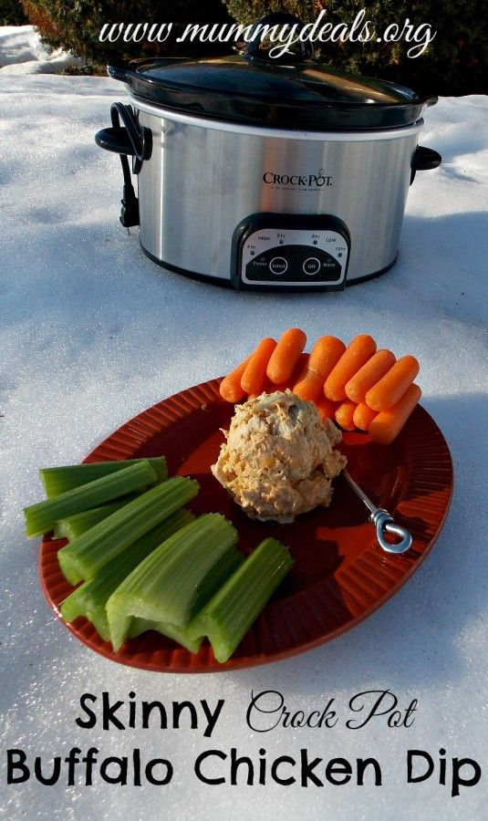 Skinny Crock Pot Buffalo Chicken Dip 6 | Food and Party Ideas | Pinte ...