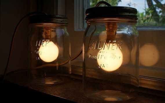Kilner Jar Wall Lights : Pinterest
