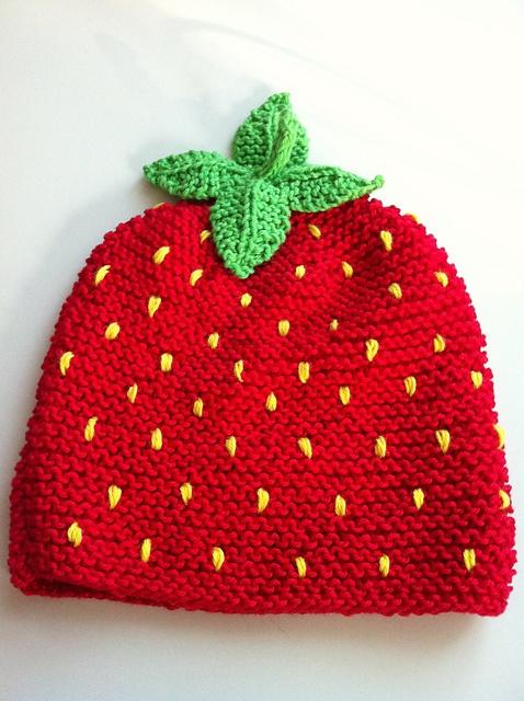 Strawberry Baby Hat Punto (knitting) Pinterest