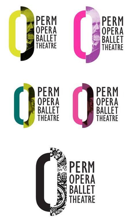 New logo & identity for Perm Opera Ballet Theatre | Russia | Design: E. Kitayeva | 2012