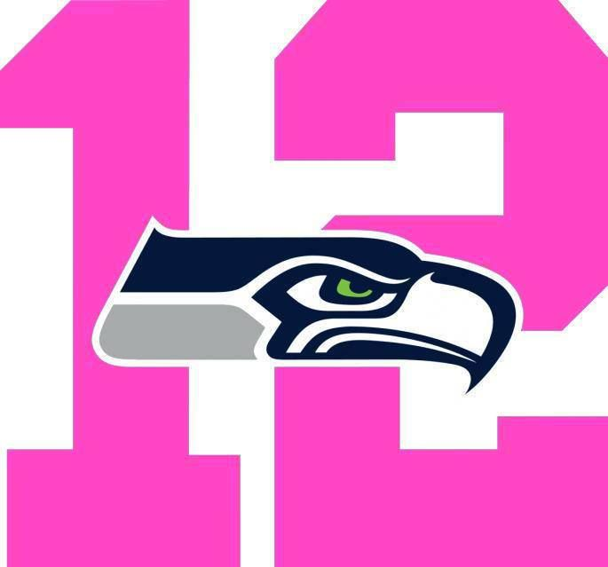"12th woman SEAHAWKS -- for the ""women"", pretty in pink ..."
