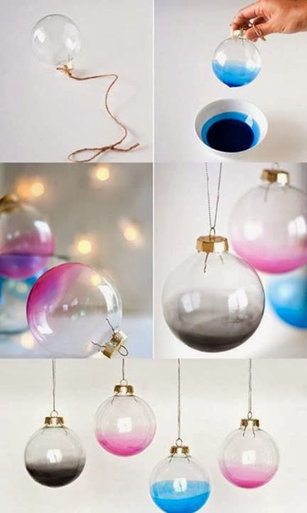 Diy 5 Cute Christmas Tree Decorations Ombre Baubles