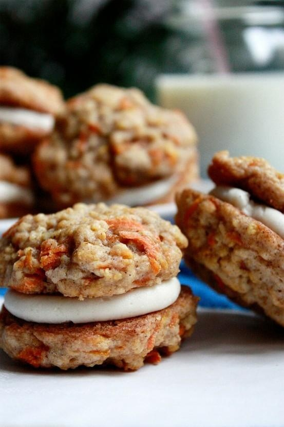 Carrot Cake Sandwich Cookies with Cream Cheese Frosting Filling Recipe ...