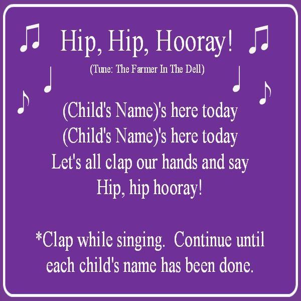 Hip hip hooray song preschool pinterest