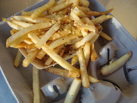 Garlic fries... yes it has to have chucks of garlic on them.